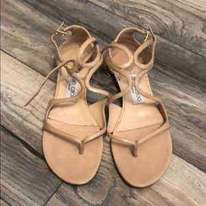 Shoes - Nude Jimmy Choo sandals